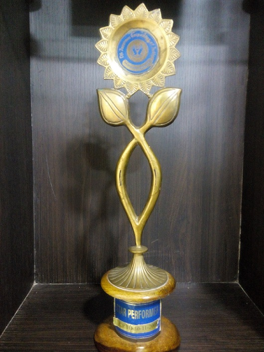 LIC OF INDIA STAR PERFORMER TROPHY