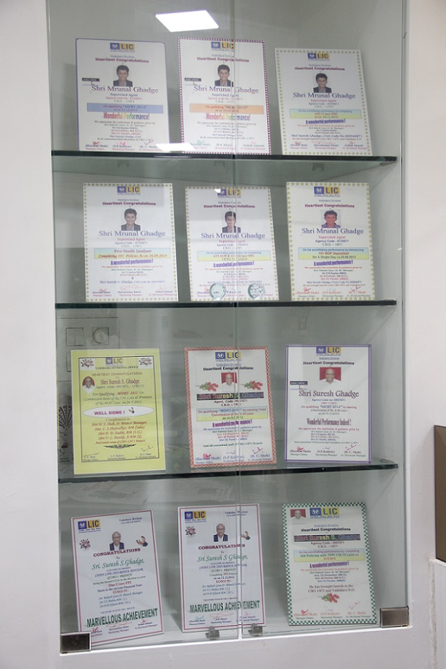 ALL LIC OF INDIA CERTIFICATES